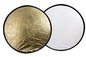 Linkstar Reflectiescherm 2 in 1 Goud/Zilver 60 cm