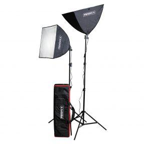 Caruba All-in-1 Lichtset (Softbox / LED)