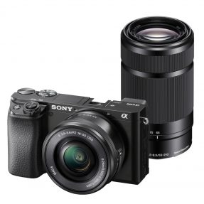 Sony A6100 body zwart + 16-50MM + 55-210MM