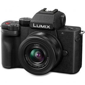 Panasonic LUMIX DC-G100 + 12-32mm incl. 25mm F/1.7 en Schoudertas