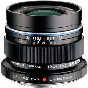 Olympus 12mm F/2.0 zwart ED M.Zuiko Digital